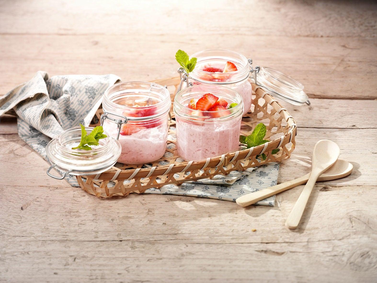 Porridge à la maquée et aux fraises