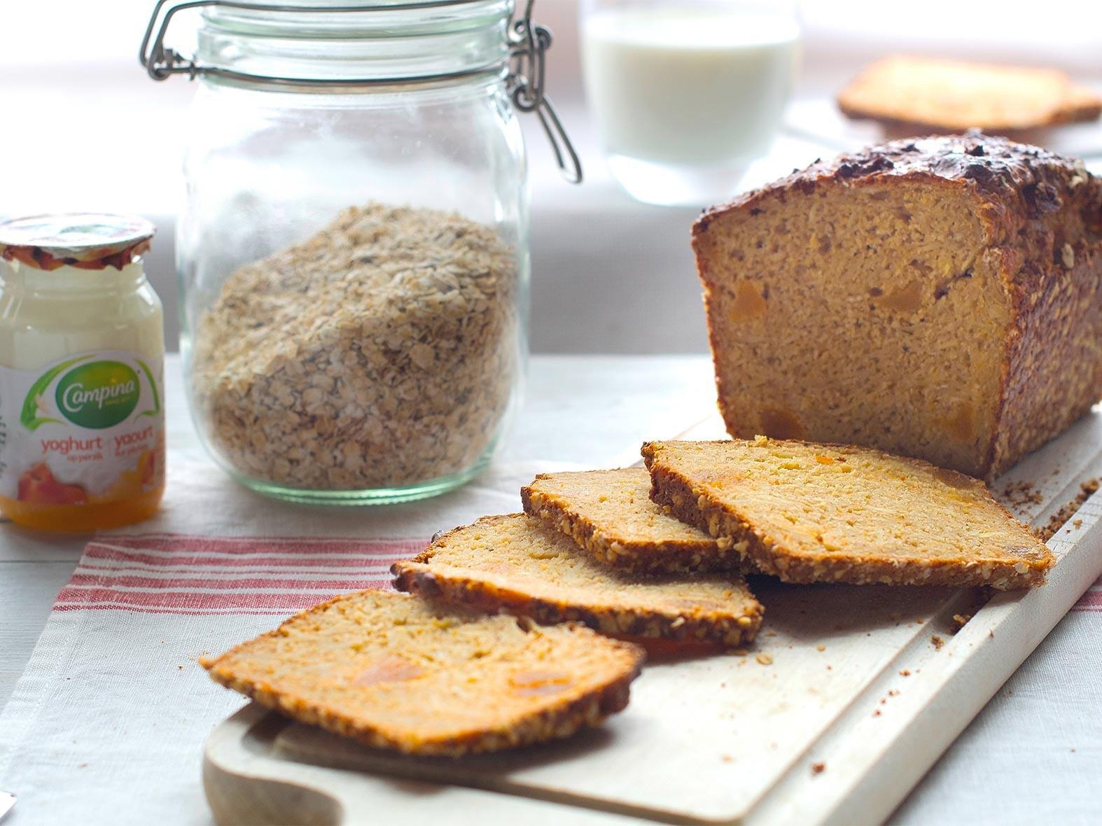 Cake aux flocons d'avoine et au lait