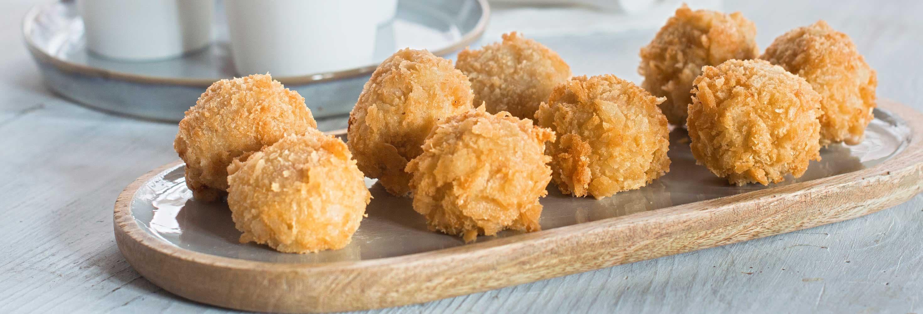 Croquettes aux crevettes et crème pour dips