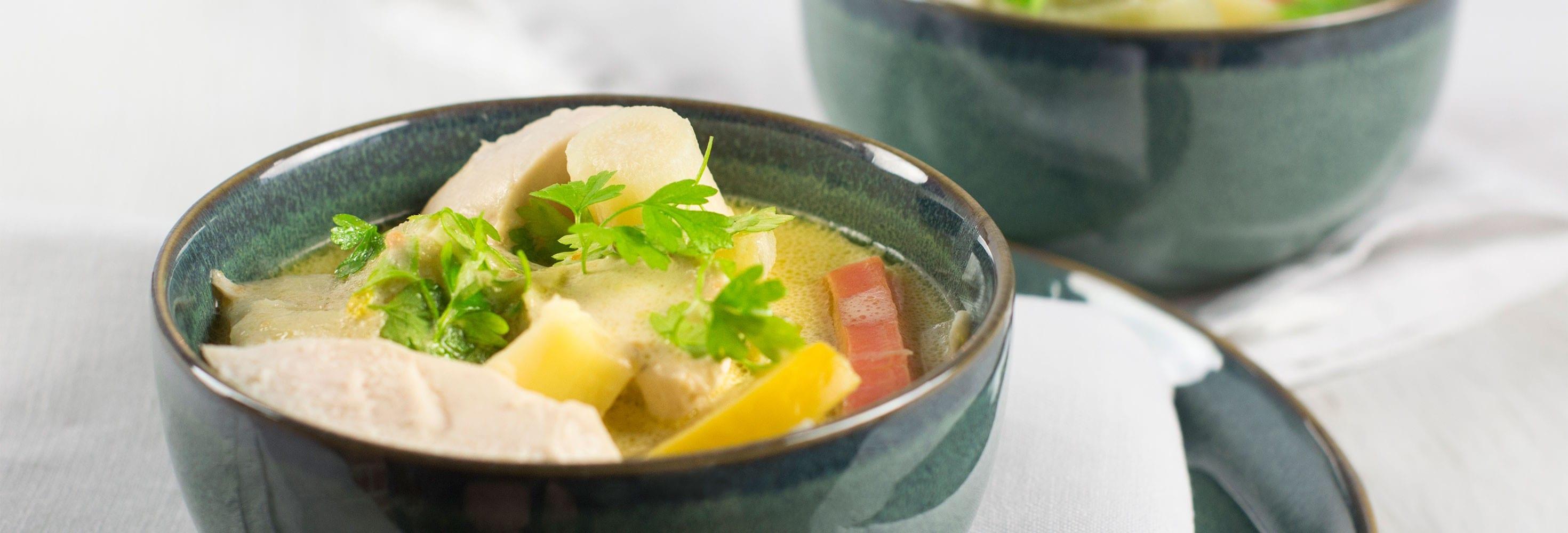 Waterzooi aux légumes d'hiver belges