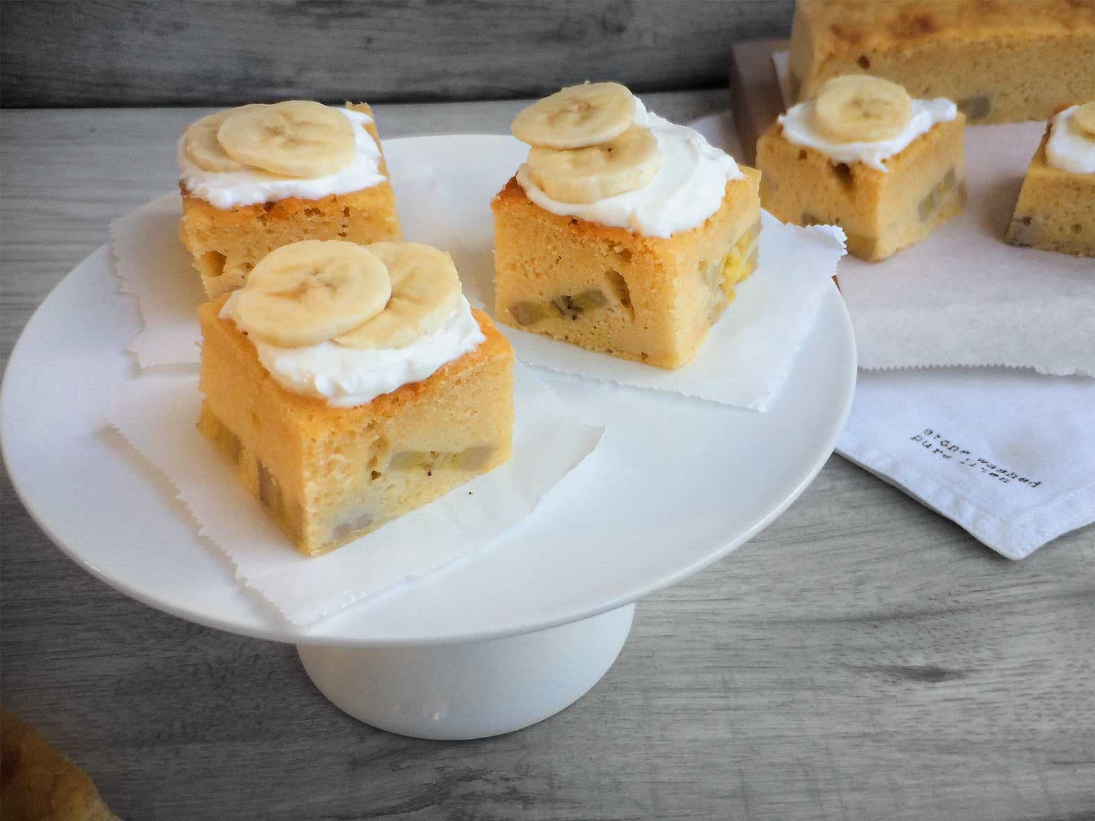 Blondies de pain aux bananes