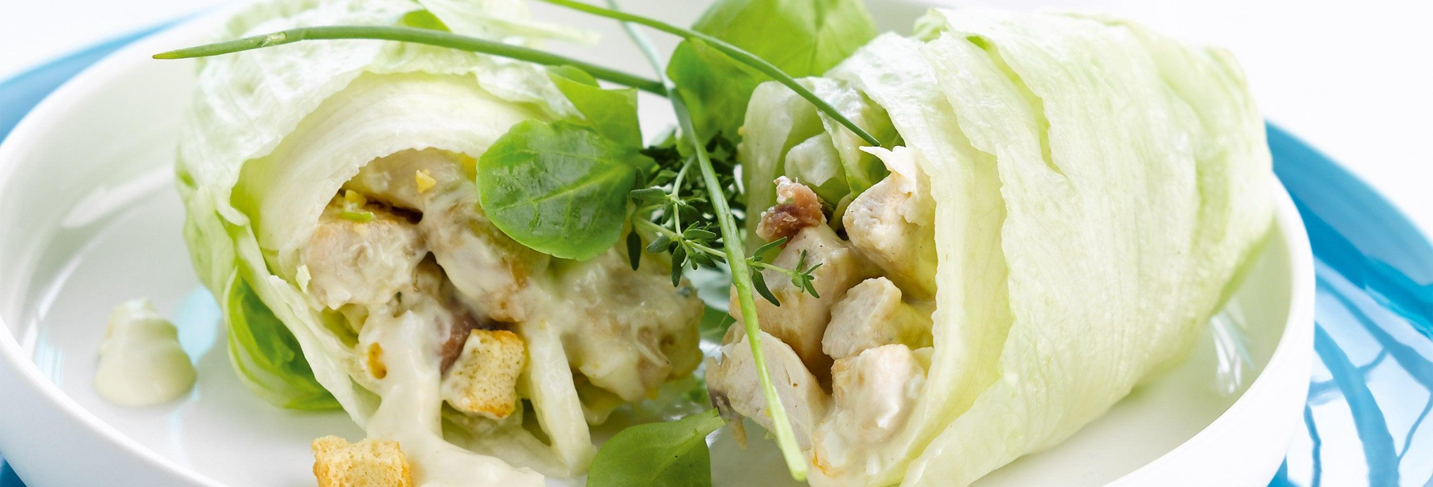 Wrap à la salade caesar
